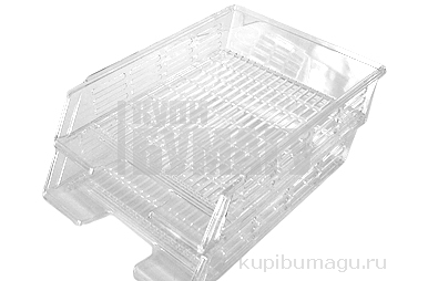 Набор из 2 х лотков горизонтальных с пазами тон прозрачный (СТАММ)