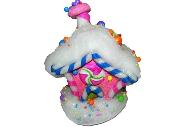 Украшение декоративное СЛАДКИЙ ДОМ, 1 шт, 15 см, в пакете, полимерный материал,  (WINTER WINGS)