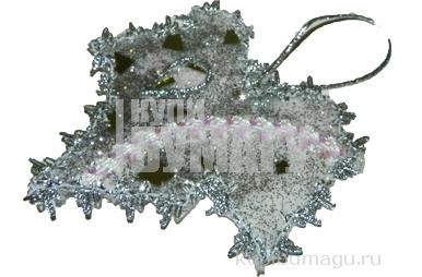 Украшение декоративное КЛЕН СЕРЕБРЯНЫЙ, 13 см, пластик,  (WINTER WINGS)