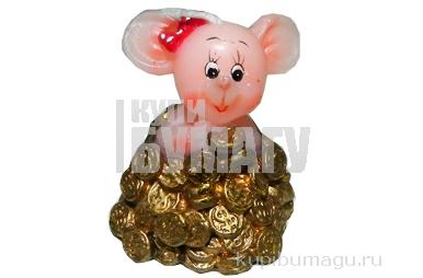 Cвеча МЫШКА с монетами, 4, 5 см, 2 в.,  (WINTER WINGS)