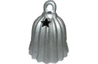 Подсвечник КОЛОКОЛЬЧИК серебристый, 10 см, 1 в.,  (WINTER WINGS)
