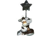 Держатель для визиток ОЛЕНЬ С САПОЖКОМ, 1 шт, 5. 5x5. 3x12. 3 см, 2 вида, керамика,  (WINTER WINGS)