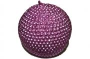 Свеча ШАР ЖЕМЧУГ, 1 шт, 6. 5 см, в пакете, розовый,  (WINTER WINGS)