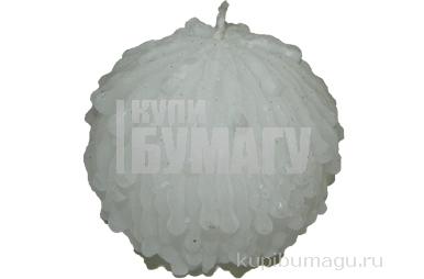 Свеча СНЕЖНЫЙ ШАР, 7 см, 1 шт в пакете,  (WINTER WINGS)