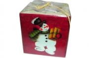 Подсвечник НОВОГОДНИЕ ГЕРОИ, 1 шт, 6*6 см, 4 вида, керамика, в пакете,  (WINTER WINGS)
