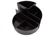 Подставка для канц. принадлежностей ПРОФИ, круглая, черная,  (СТАММ)