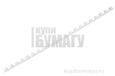 """Пружины для переплета пластиковая 06 мм """"Proff"""", белая,"""