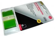 """Самоклеящиеся этикетки-закладки (45*25 мм) 50 л., пластик. полупрозр., цвет неоновый зеленый """"Proff Alpha"""", в пласт. диспенсере"""