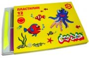 Пластилин Каляка-Маляка для детского творчества 12 цв. 180, 00 г стек