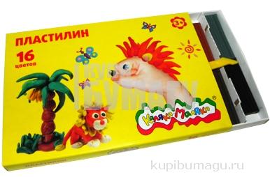 Пластилин Каляка-Маляка для детского творчества 16 цв. 240, 00 г стек