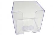 Пластбокс прозрачный для бумажного блока 9*9*9 (СТАММ)