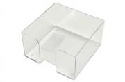 Подставка для бумажного блока, разм. 9х9х5 см, прозрачная,  (СТАММ)