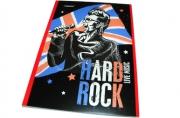 """Блокнот A5 40 листов в клетку """"Proff. Rock Stars"""", офсет/обл. мелованный картон+ВД-лак/скоба"""