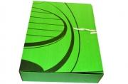 Короб архивный inФОРМАТ А4 гофрокартон на завязках зеленый