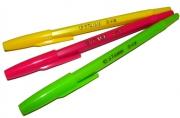 Ручка шариковая СТАММ Тропик, СИНЯЯ, корпус ассорти, узел 1, 2мм, линия письма 1мм, РШ10