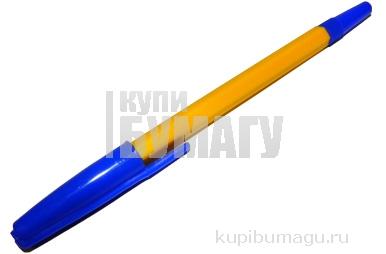Ручка шариковая СТАММ 049, корпус белый, узел 1, 2мм, линия письма 0, 7мм, синяя, РШ11
