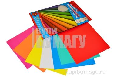 """Картон цветной мелов двуст А4 07л 07цв """"Цветные полосы"""" в папке е/п АППЛИКА С0260-06"""