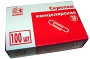Скрепки, 28 мм, 100 шт., (ГЛОБУС)