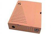 Лоток-коробка архивный, микрогофрокартон, 250x75x315 мм, красный, уп-ка 5 шт, цена за 1 шт,  (SPONSOR)