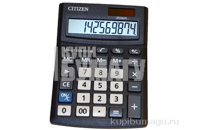 Калькулятор настольный Citizen Business Line CMB, 10 разр., двойное питание, 100*136*32мм, черный