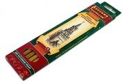 """Набор карандашей 6 шт. (2Т, Т, 2-ТМ, М, 2М) к/к """"Русский карандаш"""" натур. цвет корп. шестигран."""