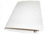 Офис-папка скоросшиватель, микрогофрокартон, 233х30х315 мм, белая, уп-ка 5 шт, цена за 1 шт,  (SPONSOR)