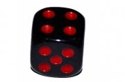 Кости игральные 1. 2х1. 2 см, черные, красные точки, фасовка 100шт