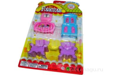 """Игровой набор 17860 """"Мебель для куклы"""", 5 предметов, пластик /1 /0 /288"""