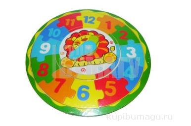 """Игра """"Пазлы"""" деревянные 10386 """"Часы"""", d-23 см, 4 асс /1 /0 /120"""