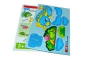 """Игра """"Пазлы"""" 3D картон 8655 """"Динозавры"""" /0 /0 /4800"""
