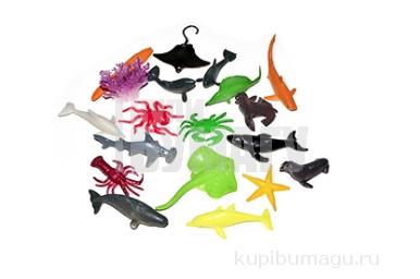 """Набор животных """"Морские жители"""", 17 фигурок с аксессуаром"""