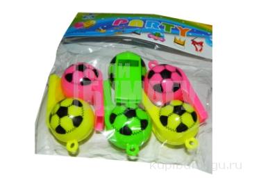 """Игрушка """"Свисток"""" 6254 Футбольный мяч, цена за набор 6 шт /20 /0 /600"""