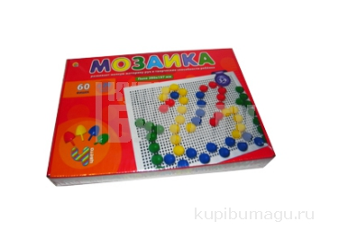 Игрушка МОЗАЙКА ПЛАСТИКОВАЯ. 60 фишек, диаметр 20 мм (Арт. М-0164) Рыжий кот /0 /0 /16 /0