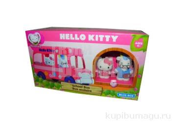 1toy Hello Kitty, Игр. наб. : школьный автобус, 2 фигурки, 22, 86*8, 89*12, 7 см, кор.