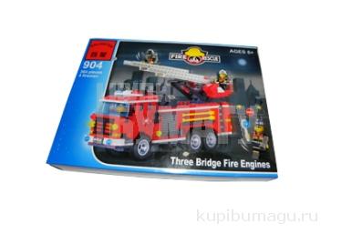 Enlighten констр., пожарная машина, 466 дет., кор 35*26*5, 5 см