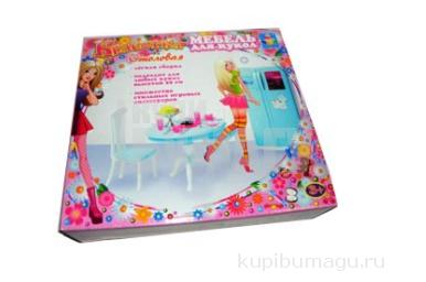 1toy Набор мебели д/кукол - кух. стол+холодильник