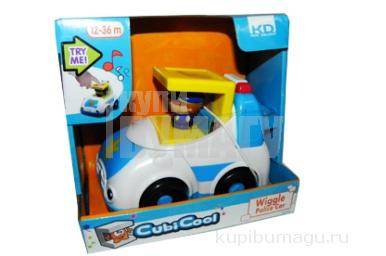 1toy Kidz Delight Машинка Полиция озвуч. 17x17см, кор.