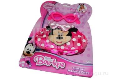 1toy Disney MMCH наб. д/дев. сумочка и очки, 22х30см, 2 эл., блист.