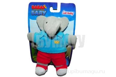 1toy Бабар мягк. Слон (Баду) /Обезьяна (Чику) 16см, блист. в ассорт.