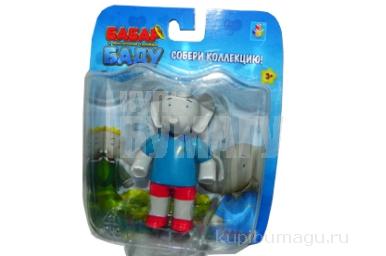 1toy Бабар фигурка слон-Баду 8см, подвиж руки, блист