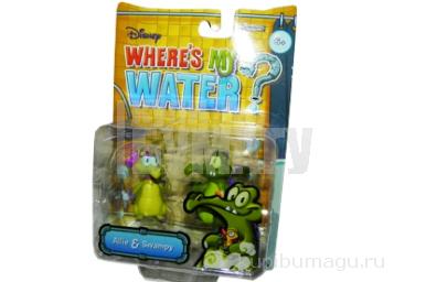 1toy Disney WMW наб из 2х крокодильчиков ПВХ Swampy и Ally 5 см,  блистер