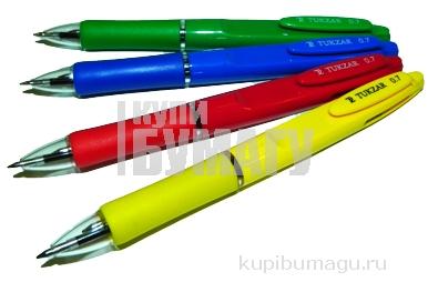 Авторучка SHAFT двухцветная: яркий пластиковый корпус